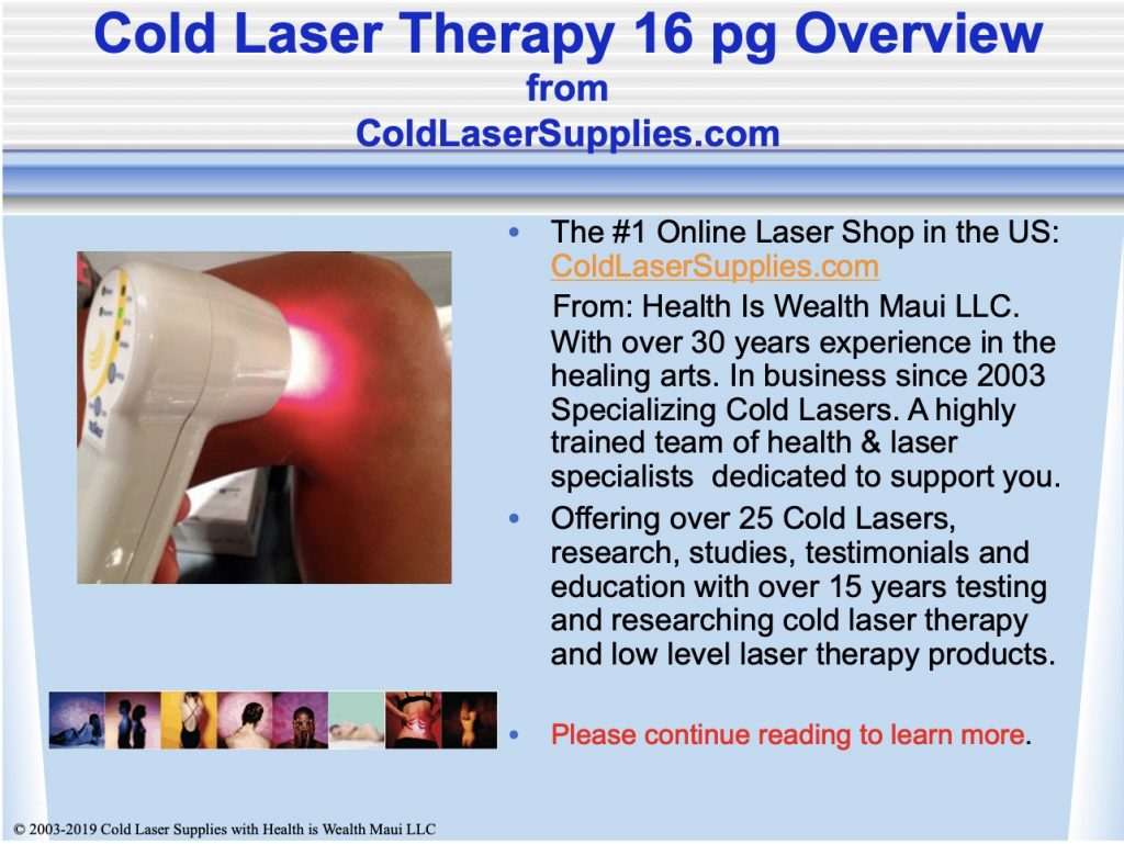 ebook cover: Cold Laser Overview presentation